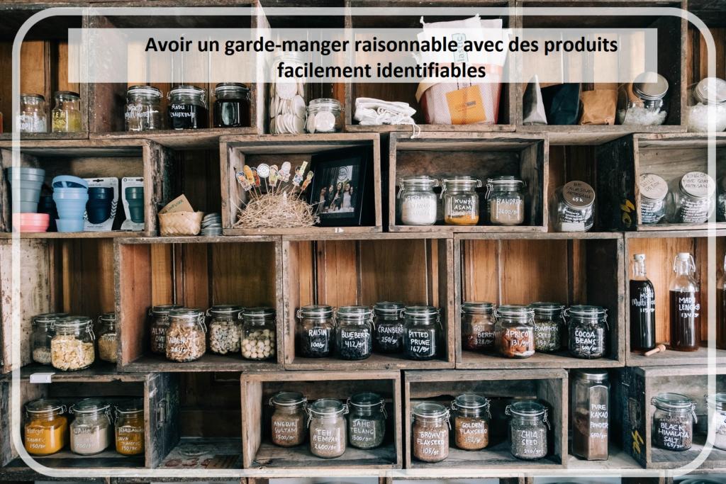 Garde-manger raisonnable et organisé