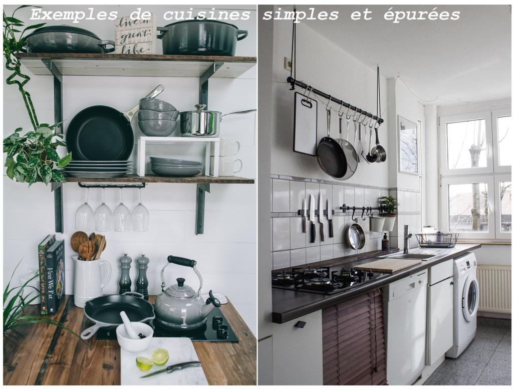 Petites cuisines modestes mais épurées et organisées